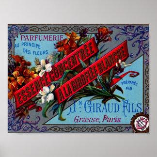 Vintage Ad Parfum Grasse, Paris Art Print