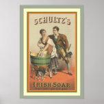 Vintage Ad Poster Schultz's Irish Soap 13 x 19