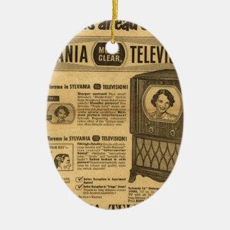Vintage ad poster: Sylvania television 1950s Ceramic Oval Decoration
