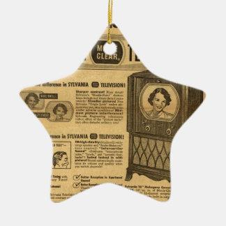 Vintage ad poster: Sylvania television 1950s Christmas Ornament