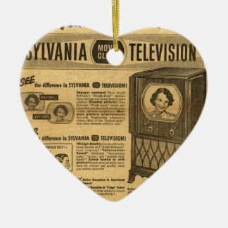 Vintage ad poster: Sylvania television 1950s Christmas Ornament