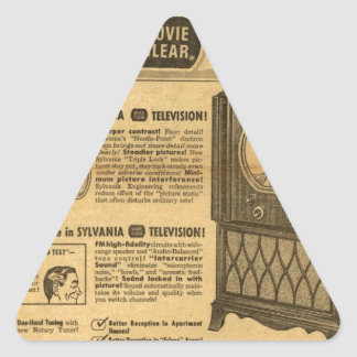 Vintage ad poster: Sylvania television 1950s Triangle Sticker