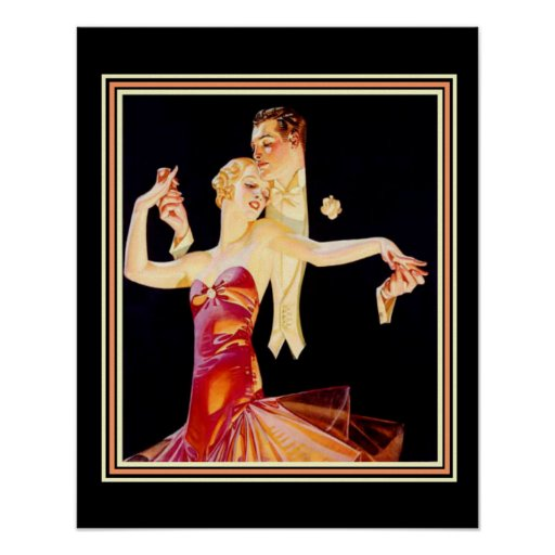 "Vintage Ad Poster ""The Dance"" 16 x 20"