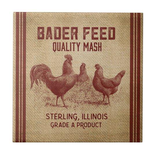 Vintage ad Quality mash rooster home decor tile   Zazzle.co.uk