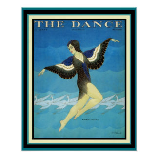 Vintage Ad The Dance Magazine Poster 16 x 20