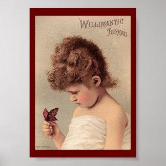 Vintage Ad Willimantic Thread Art Print