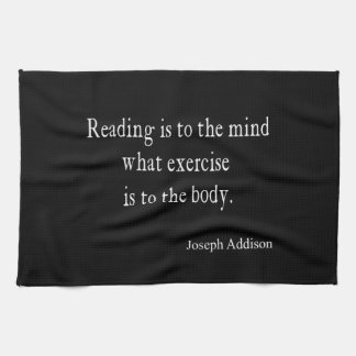 Vintage Addison Reading Mind Inspirational Quote Tea Towel