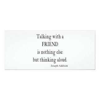 Vintage Addison Talking w Friend Friendship Quote 10 Cm X 24 Cm Invitation Card