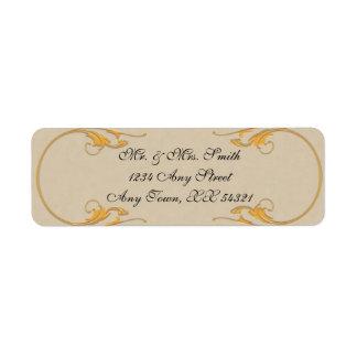 Vintage address labels