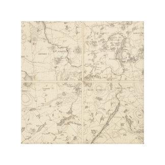 Vintage Adirondack lake region canvas print