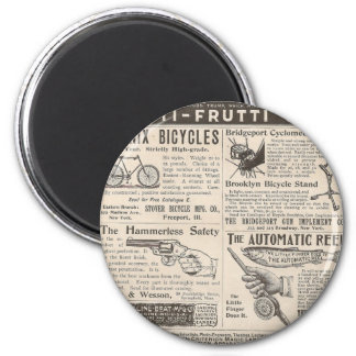 Vintage Ads 6 Cm Round Magnet