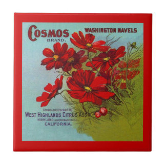 Vintage Ads ad Cosmos Brand Fruit Crate Label Tile