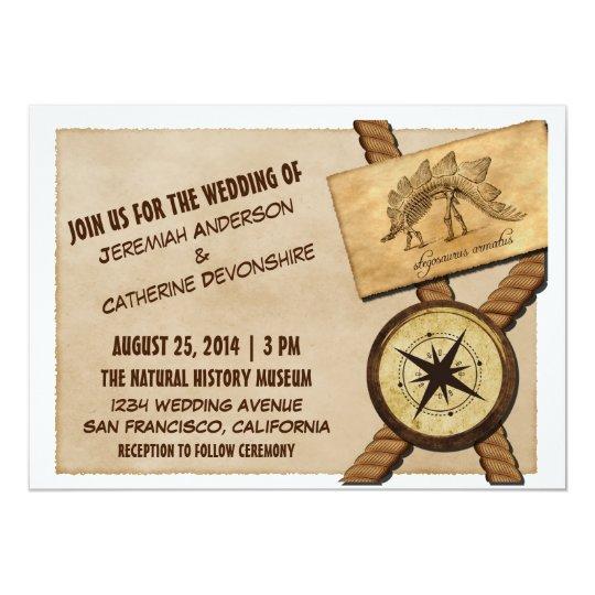 Vintage Adventure Wedding Invitation