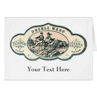 Vintage advert: Bison chasing old tandem bicycle Card