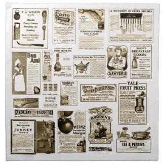 Vintage Advert Design Napkins