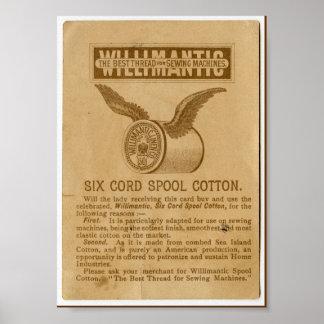 Vintage Advertisement Cotton Thread Art Print