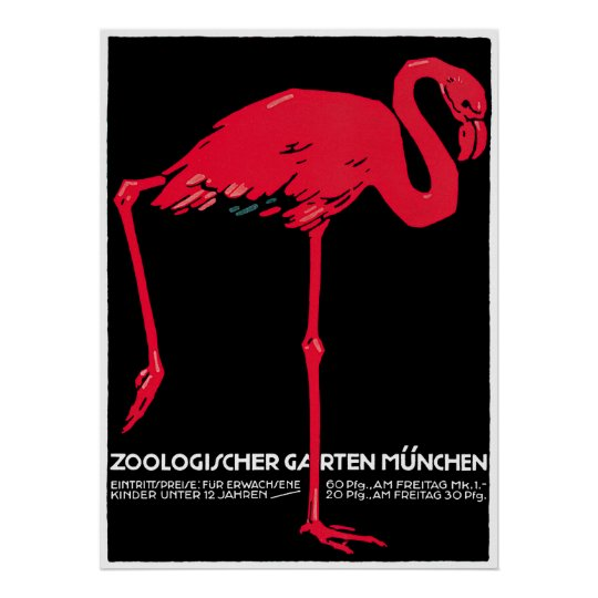 Vintage Advertisement for Munich Zoo Poster