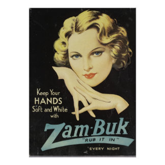 Vintage Advertisement Hand Cream Woman Blond Hair Poster