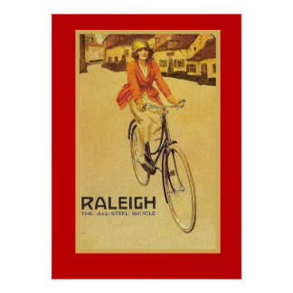 Vintage Advertisement, Raleigh bicycles Poster