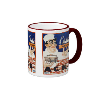 Vintage Advertising Ad: Restaurant & Food Catering Ringer Mug