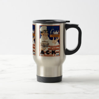 Vintage Advertising Ad: Restaurant & Food Catering Stainless Steel Travel Mug