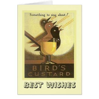 Vintage advertising, Birds Custard Card