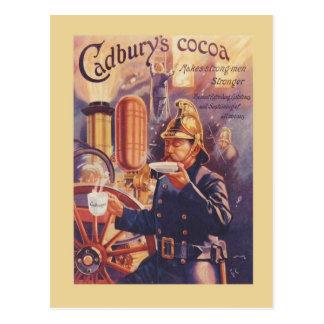 Vintage advertising, Cadbury's Cocoa, Fireman Postcard