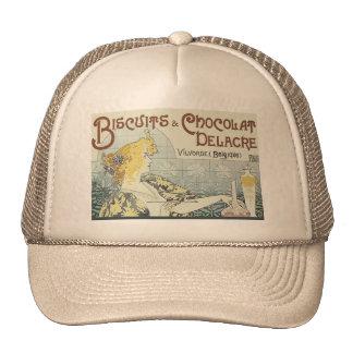 Vintage Advertising Chocoloate Art Nouveau Trucker Hat