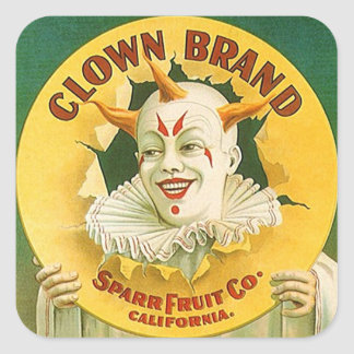 Vintage Advertising Clown Brand Fruit Sparr Co. Stickers