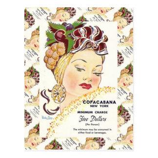 Vintage  advertising, Copacabana, New York Postcard