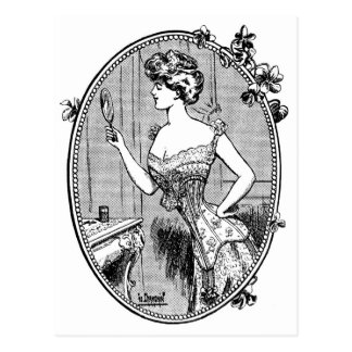 Vintage Advertising, Corsets, circa 1900 Postcard