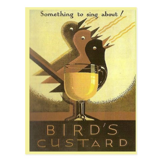 Vintage advertising, Custard Postcard