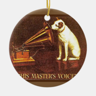 VIntage advertising, His master's Voice Christmas Ornament