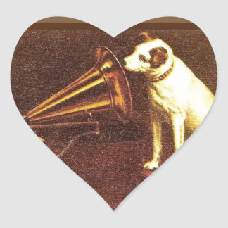 VIntage advertising, His master's Voice Heart Sticker