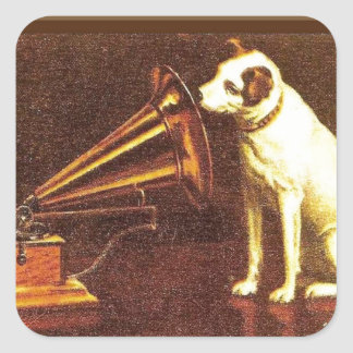 VIntage advertising, His master's Voice Square Sticker