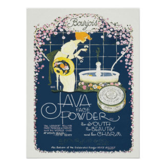 Vintage Advertising Java Face Beauty Powder Poster