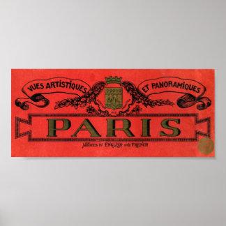 Vintage Advertising Label Paris Art Print Poster