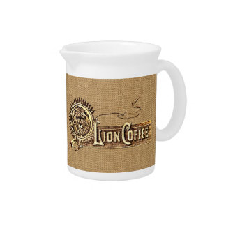 Vintage Advertising Lion Coffee Pitcher