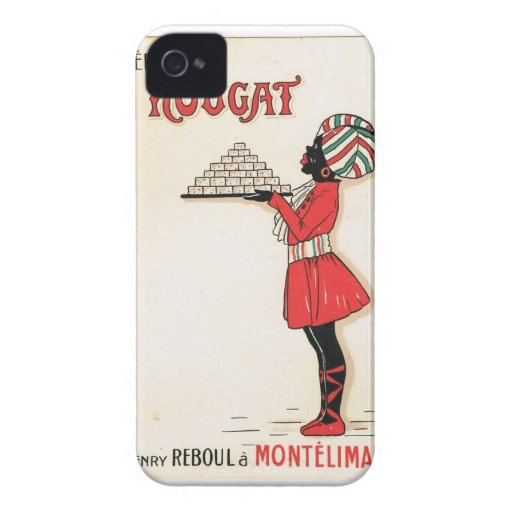 Vintage advertising, Nougat Montelimar iPhone 4 Covers
