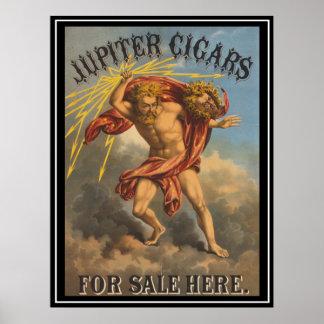 Vintage Advertising Poster Jupiters Cigars