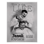 Vintage Advertising Poster - Rexall Hair Tonic