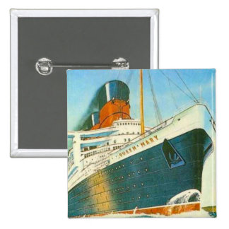 Vintage advertising, RMS Queen Mary 15 Cm Square Badge
