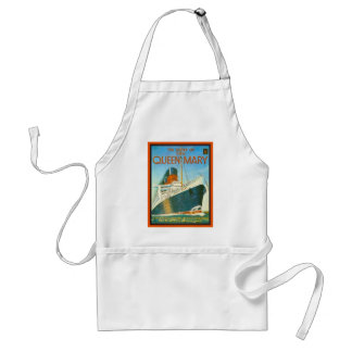 Vintage advertising, RMS Queen Mary Adult Apron