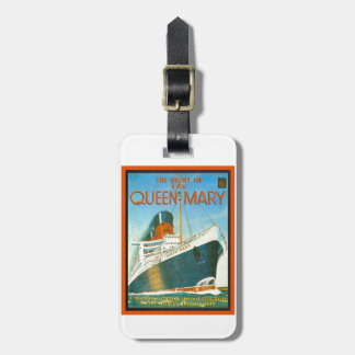 Vintage advertising, RMS Queen Mary Luggage Tag