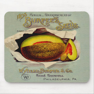 Vintage Advertising Victorian Cantaloupe Fruit Mouse Pad