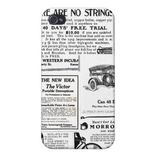 Vintage Advertisments iPhone 4 Cover