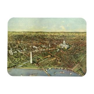 Vintage Aerial Antique City Map of Washington DC Rectangular Photo Magnet