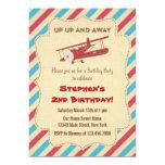 Vintage Aeroplane Birthday Party Invitation