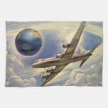 Vintage Aeroplane Flying Around the World in