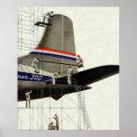 Vintage Aeroplane Maintenance Poster